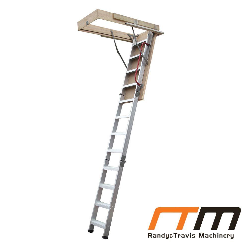 Deluxe Aluminium Attic Loft Ladder - 2700mm to 3050mm