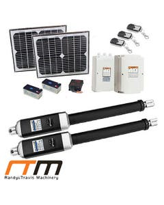 double swing remote control gate opener 1200kg with two solar panels