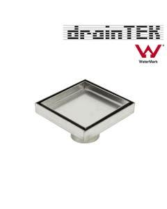 Centre Square Floor Waste - Tile Insert - 316 Stainless Steel