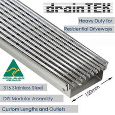 draintek australian made and watermark approved heavy duty wedge wire drainage tray