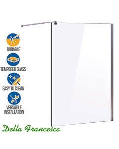 durable single panel safety glass frameless shower screen