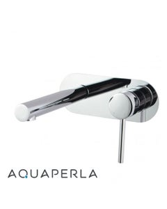Echo Round Chrome Bathtub/Basin Wall Mixer With Spout facing left