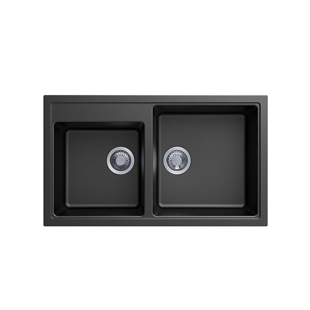 Carysil Vivaldi N200 Granite Kitchen Sink - 860 x 500mm Double Bowl