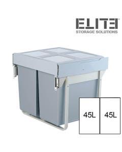 90L Twin Slide Out Concealed Kitchen Waste Bin - fits 900mm Cabinet