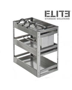 stainless steel pull out kitchen storage