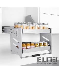 Elite soft close pull down overhead kitchen cupboard storage unit