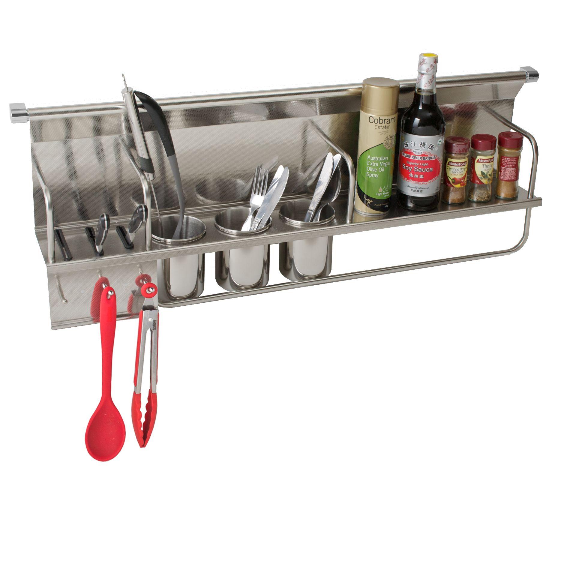 Chef Kitchen Wall Storage Organiser Rack - Chef Series - 900mm