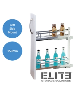 elite provedore 150mm under bench pull out cabinet 2 tier left side mount