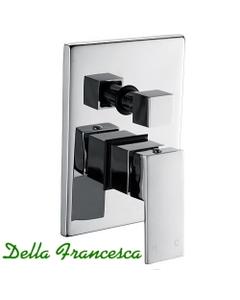 Della Francesca Essato Square Shower Wall Mixer with Diverter