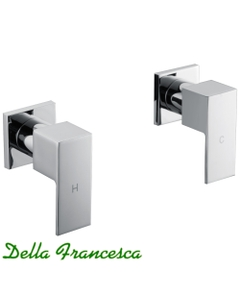 Flowell Essato Wall Mounted Two Piece Shower Tap Set