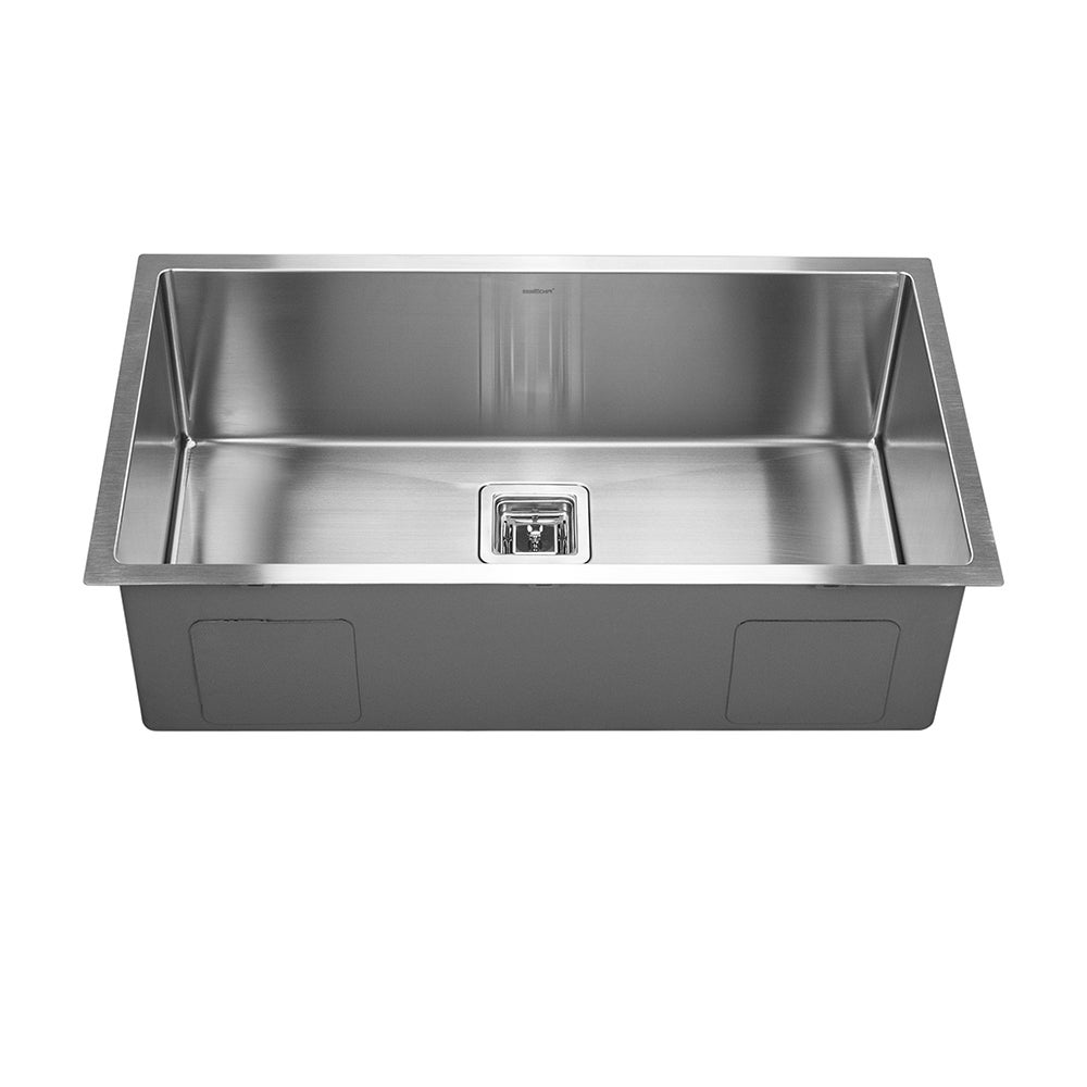Kitchen sink stainless steel double drainer single bowl in vic ebay - The Swedia Dante Super Single Bowl Stainless Steel Sink Is A Designer Sink Of The Highest Grade Available It Can Be Under Mouned Or Top Mounted And