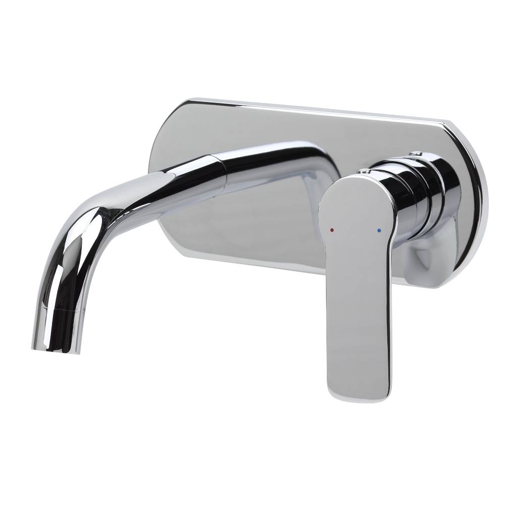 Fleur Wall Mounted Single Lever Mixer Tap and Spout