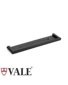 fluid matte black shower bath shelf wall mounted