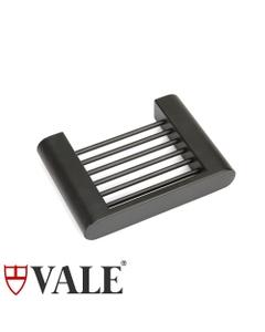 fluid matte black soap dish rack