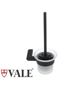 fluid matte black toilet brush holder round bar handle