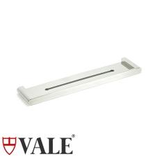 fluid polished stainless steel shower bath shelf wall mounted