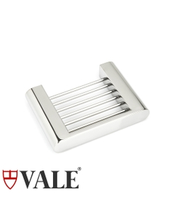 fluid polished stainless steel soap dish rack