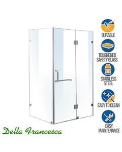 frameless glass shower enclosure 1200mm wide