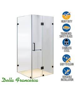 1200mm wide frameless glass shower corner enclosure