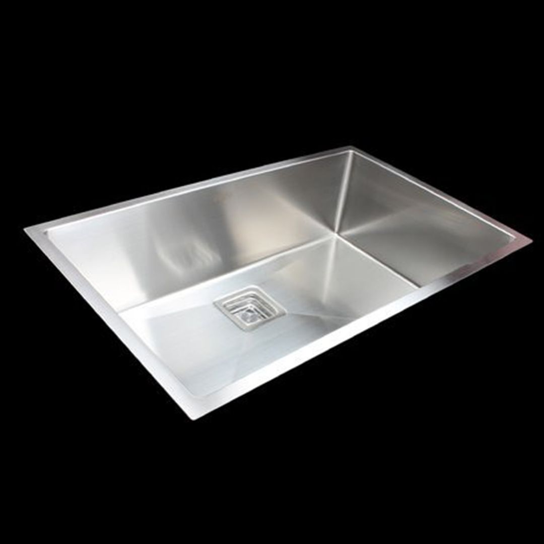 Handmade 1.5mm Stainless Steel Kitchen Sink with Square Waste - 810x505mm