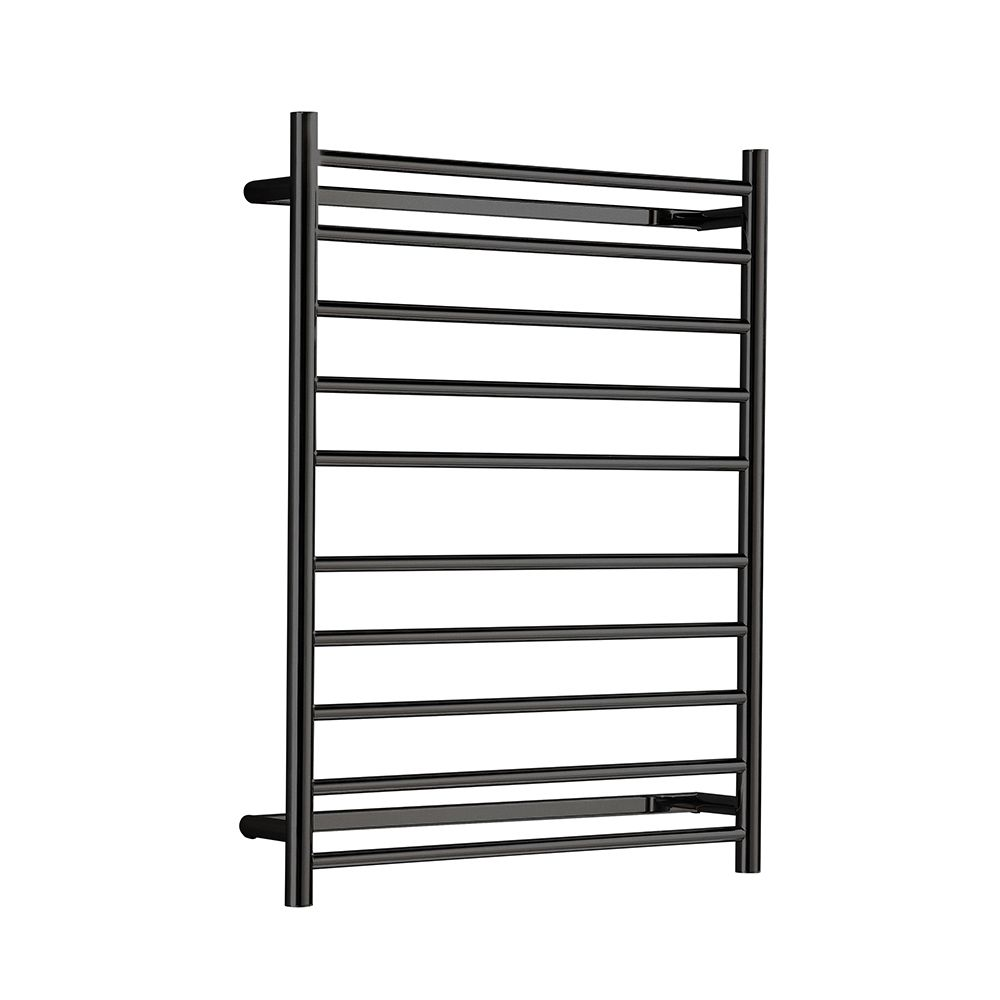 Hotwire - Heated Towel Rail - Round Bar (W700mm x H900mm) - Matte Black