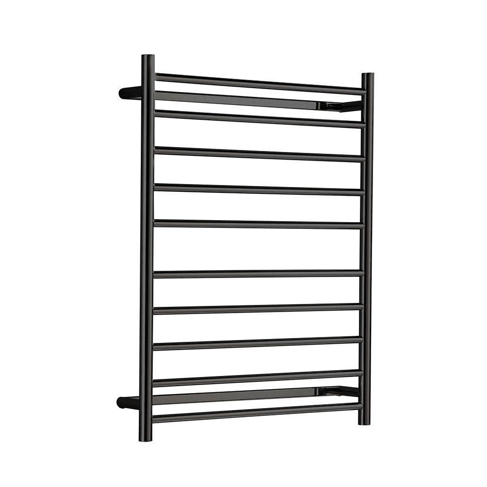Hotwire - Heated Towel Rail - Round Bar (W700mm x H900mm) - Matte Black