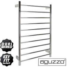 EZY FIT Dual Wired Heated Towel Rail (W600mm x H920mm) - Polished SS