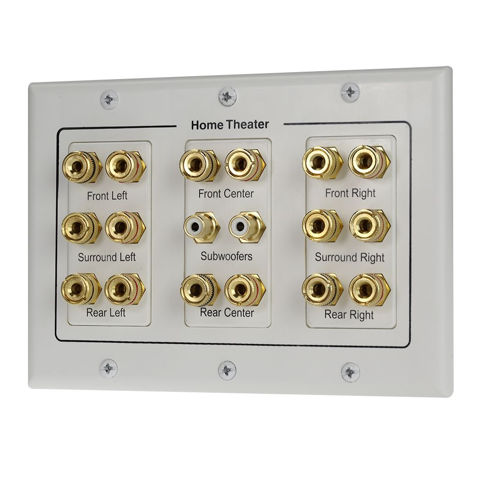 Home Theater Wall Plates home theatre 8.2 speaker wall plate include mounting bracket - 5.1
