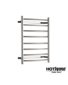 Heated towel rail - Hotwire - Curved - Easy Installation