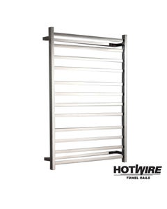 Heated towel rail - Hotwire - Square Tube - Easy Installation 165W