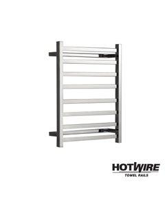 Heated towel rail - Hotwire - Square Bar - Easy Installation 80W
