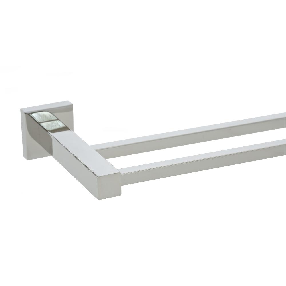 Bathroom 750mm quadro double towel rail stainless steel ebay for Double towel rails for bathrooms