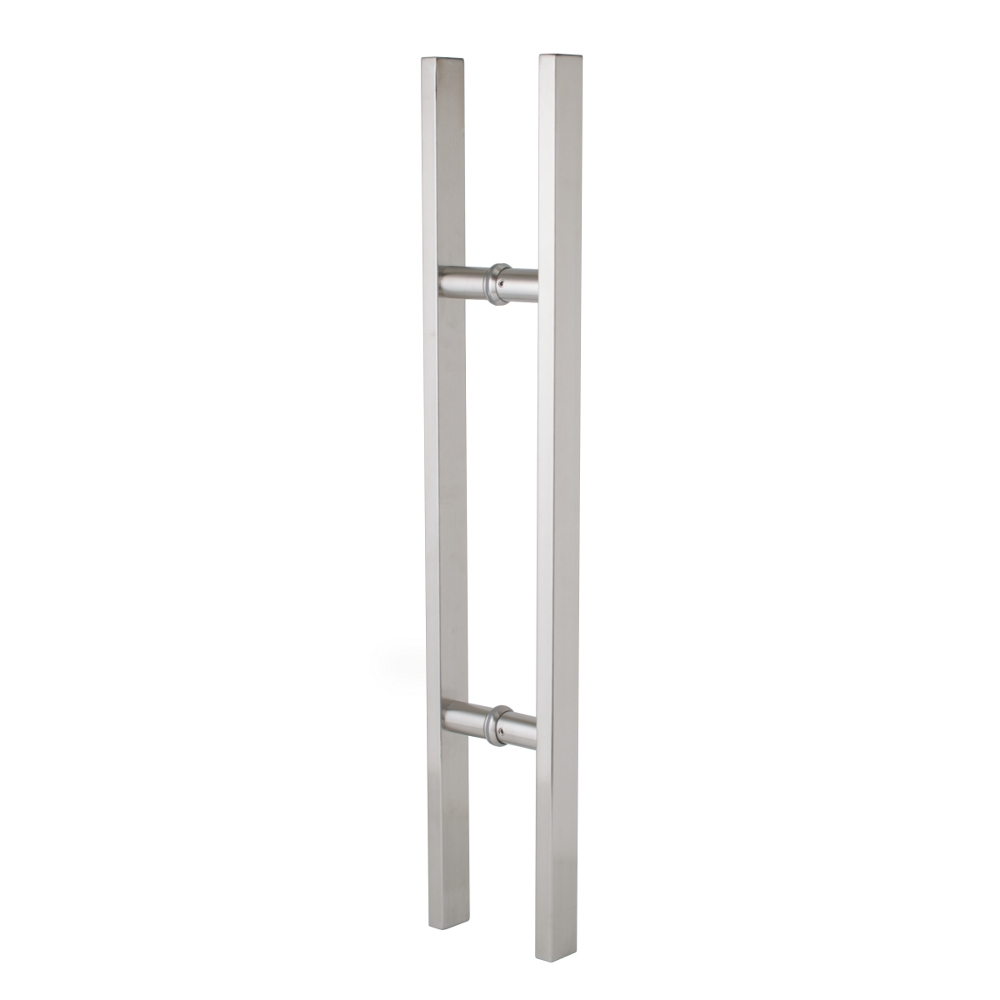 Entrance Door Handle Pull Set - Square - Stainless Steel - 600mm