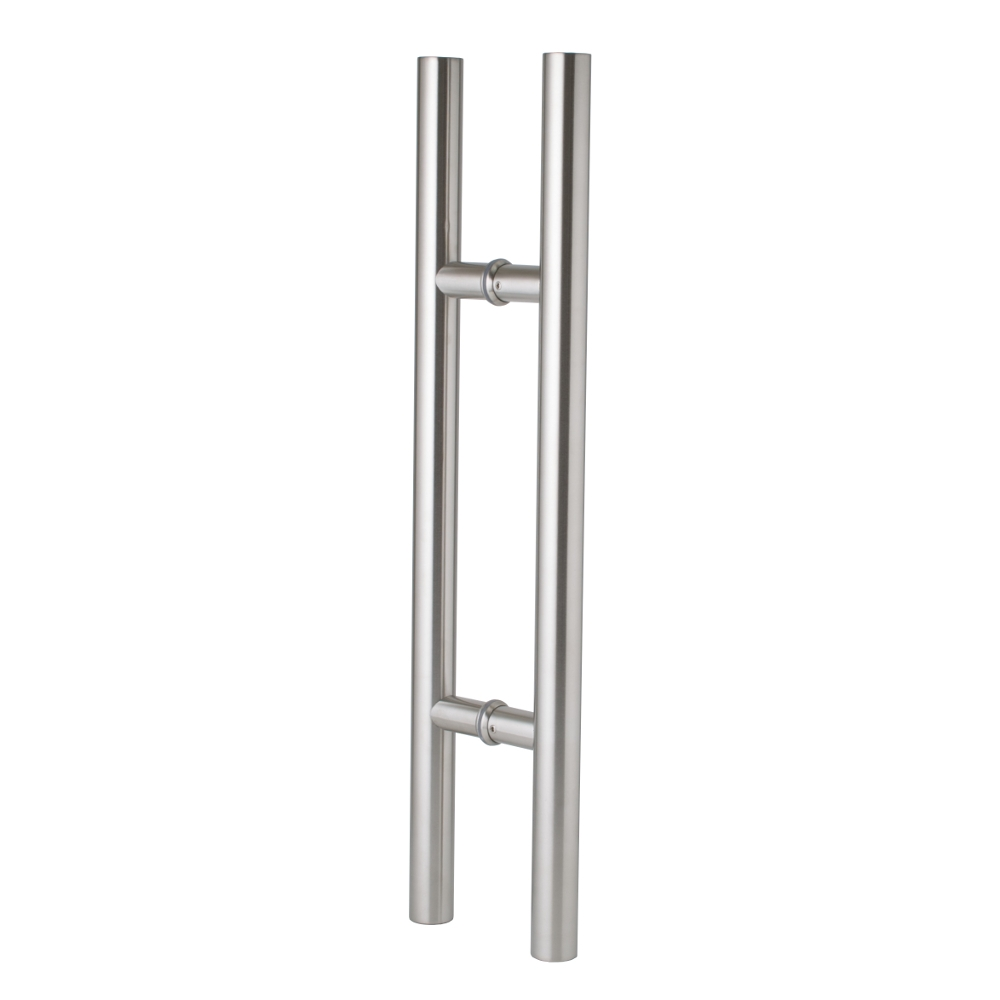 Entrance Door Handle Pull Set - Round - Stainless Steel - 600mm