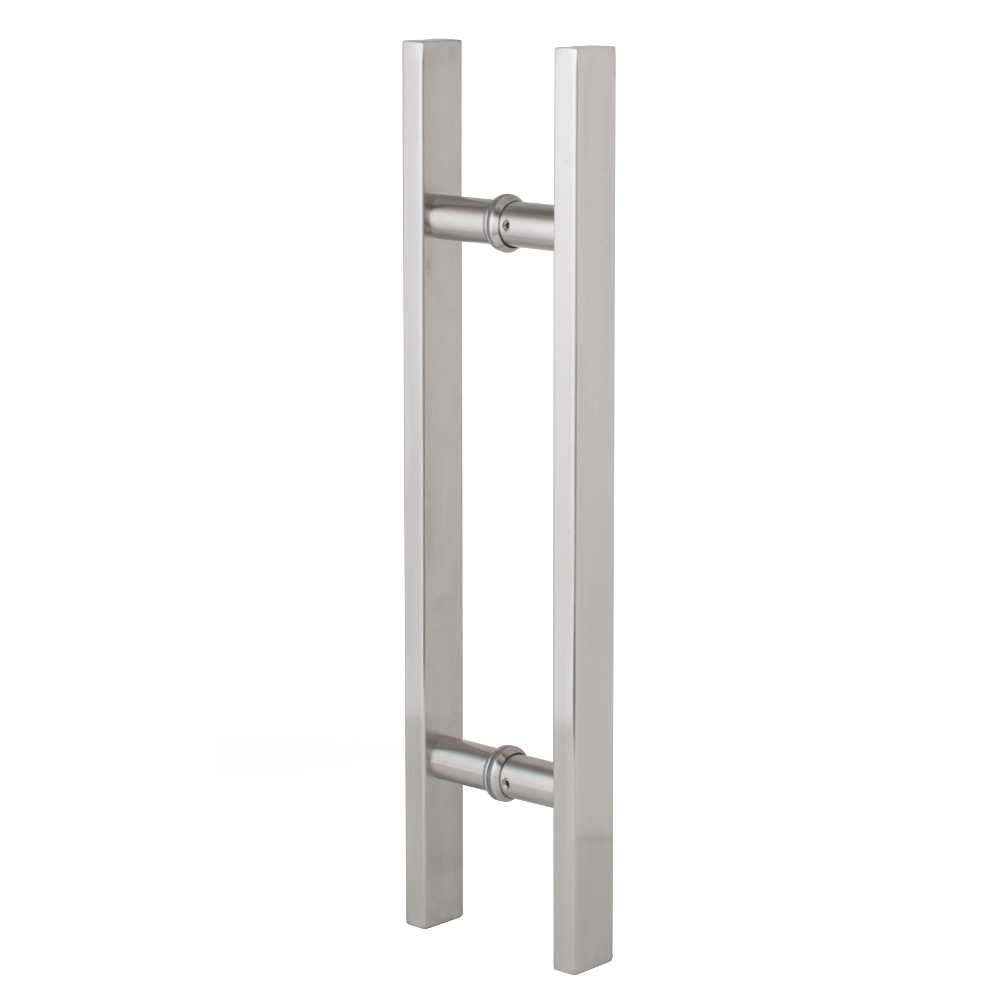 Entrance Door Handle Pull Set - Square - Stainless Steel - 450mm