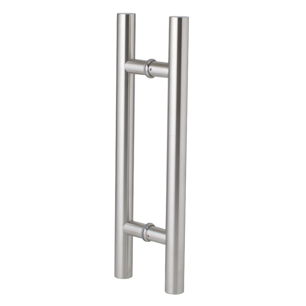 Entrance Door Handle Pull Set - Round - Stainless Steel - 450mm