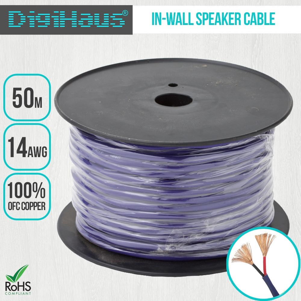 Speaker Wire In House : Premium home theatre in wall speaker cable awg m