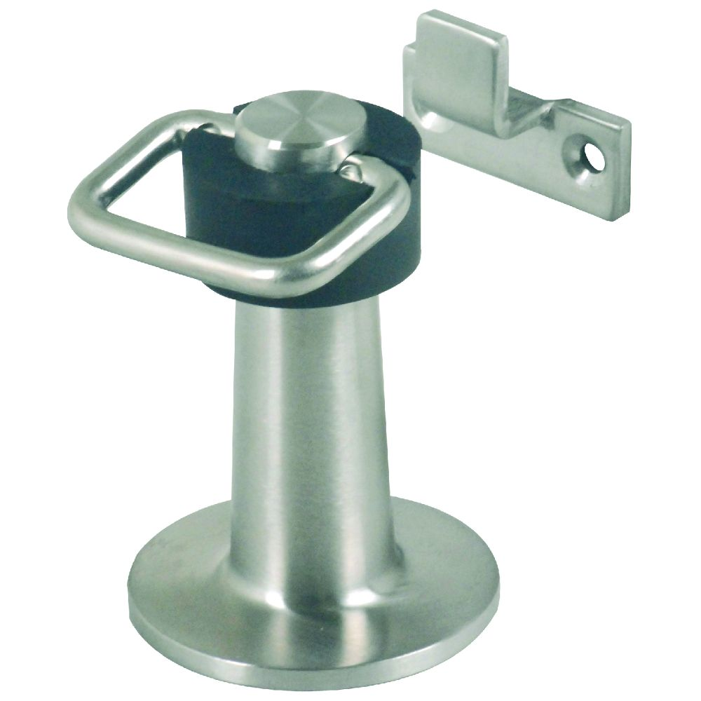 Door Stopper Floor Mounted Heavy Duty With Catch Stainless Steel