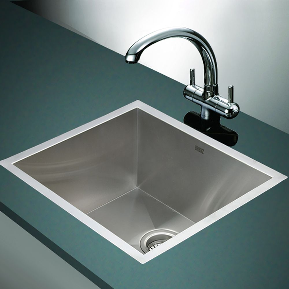 Stainless Steel Kitchen Sink - Deep Single Bowl Square Corners - Under ...