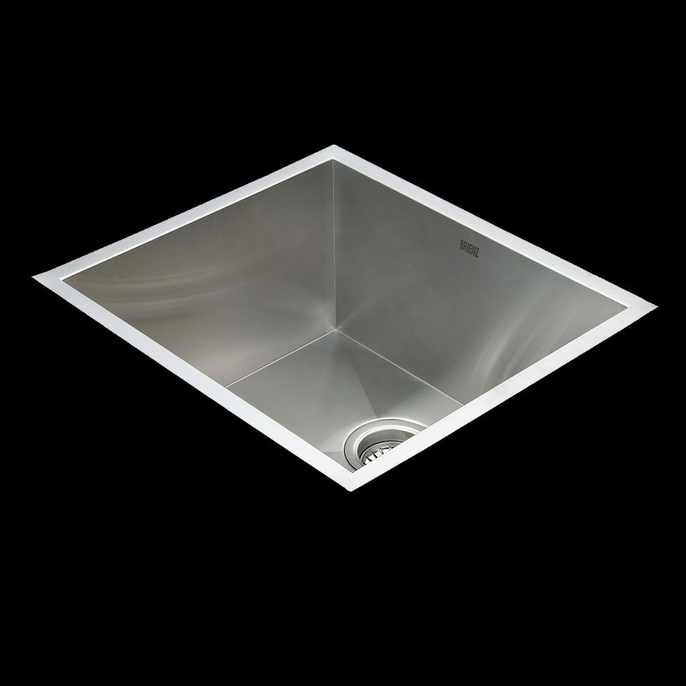 Stainless Steel Kitchen Sink - Deep Single Bowl Square Corners - Under/Top Mount