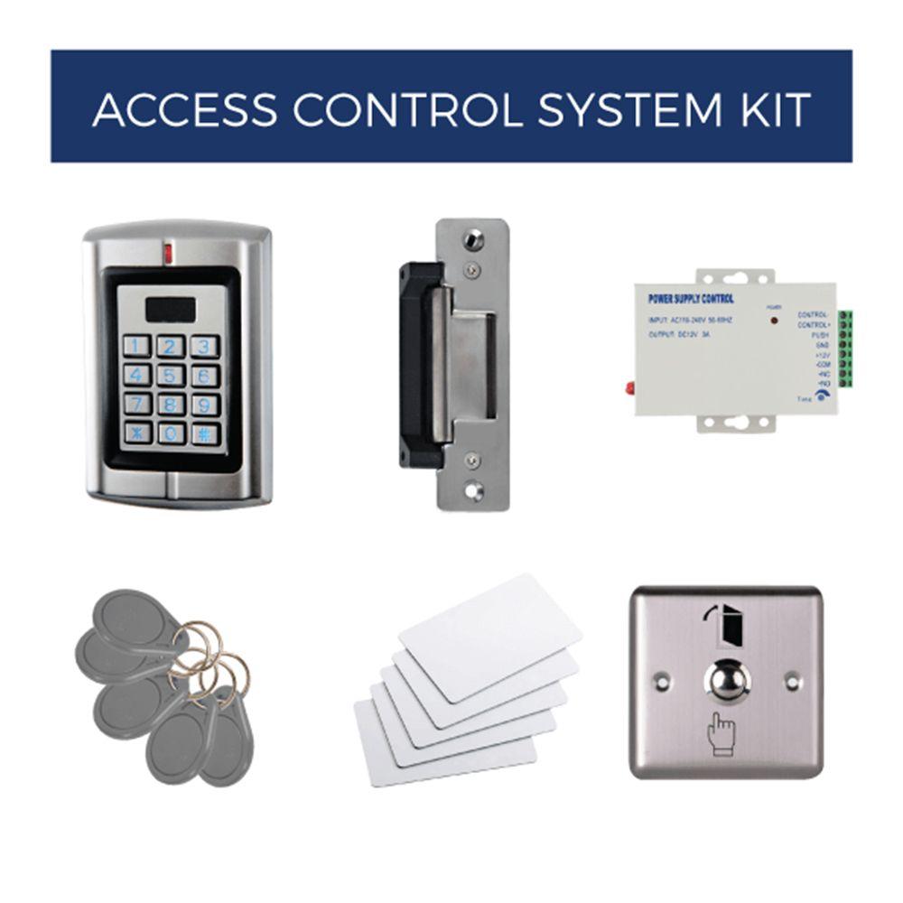 Electric Strike Lock - Electronic Strike Bundle Kit - Keypad, Card, or Fingerprint
