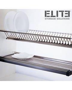 Kitchen cupboard dish shelf