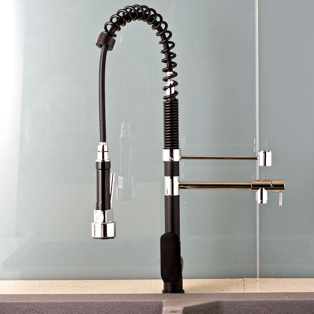 Black And Silver Kitchen Faucets At Home Depot