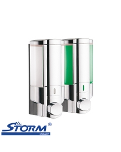 Storm Lotus - Excella - Wall Mounted Double Liquid Soap Dispenser