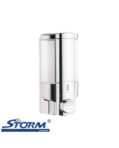 Lotus wall mounted single shampoo dispenser for soap or conditioner