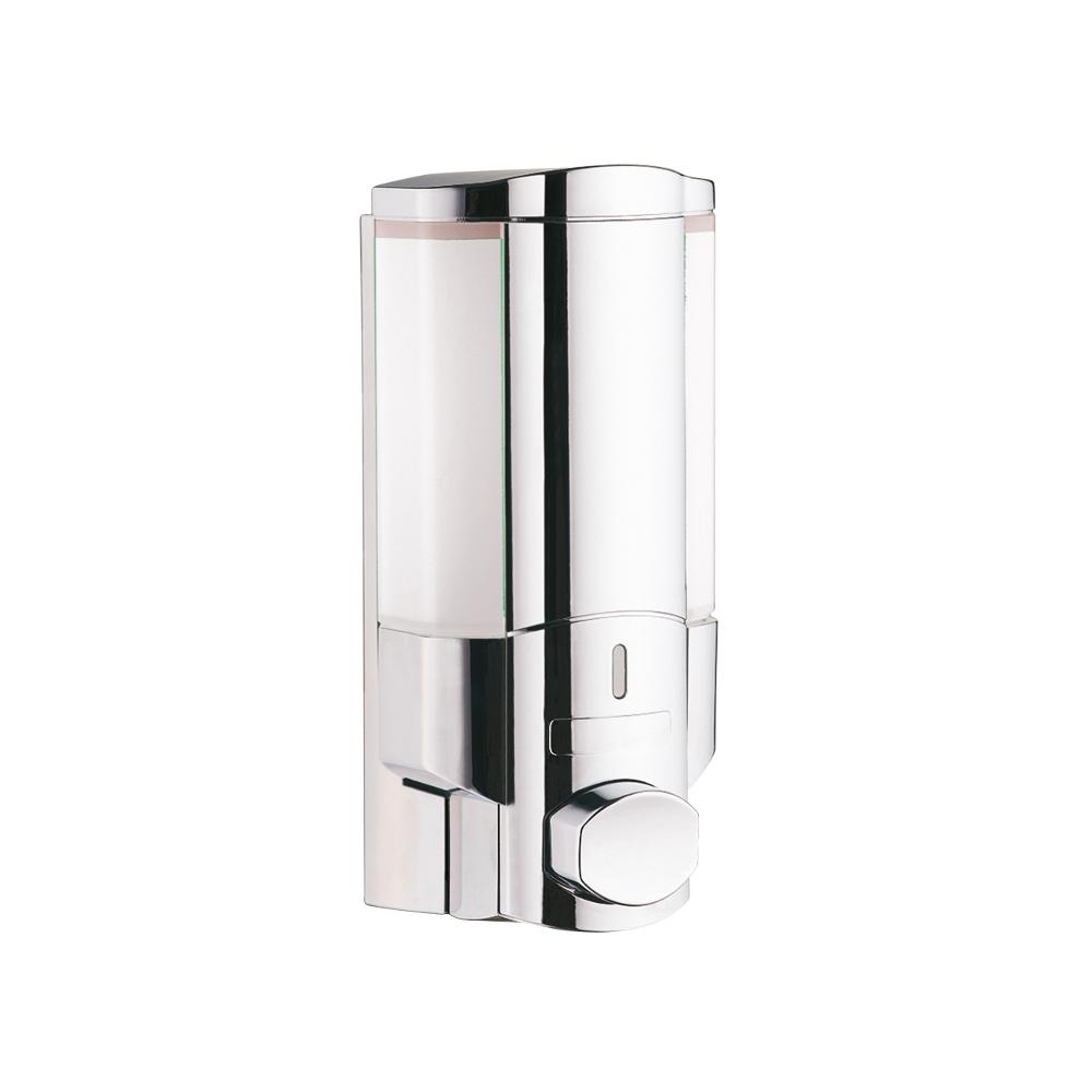 Wall mounted shower single liquid soap dispenser chrome - Wall mounted bathroom soap dispenser ...