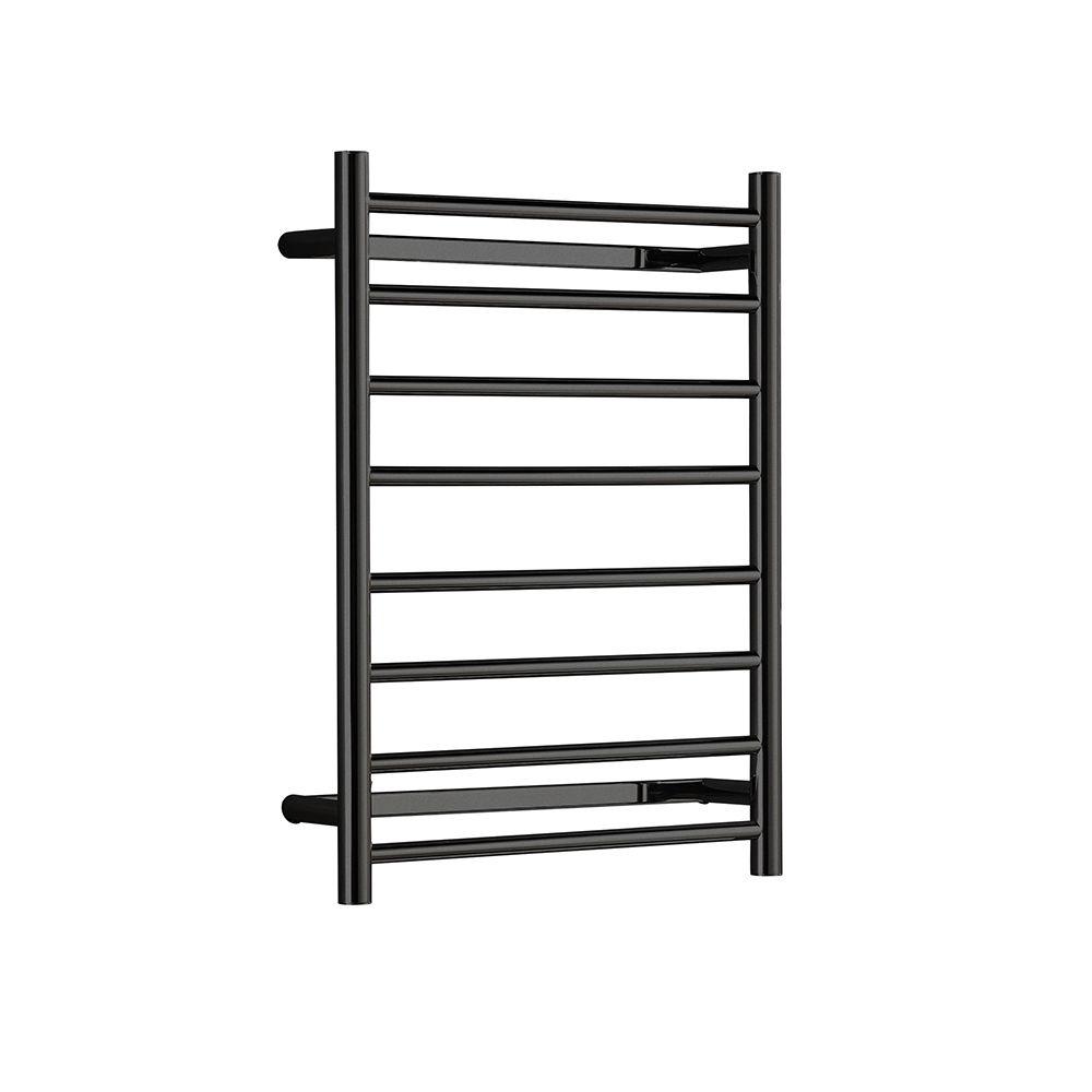 Hotwire - Heated Towel Rail - Round Bar (W530mm x H700mm) - Matte Black