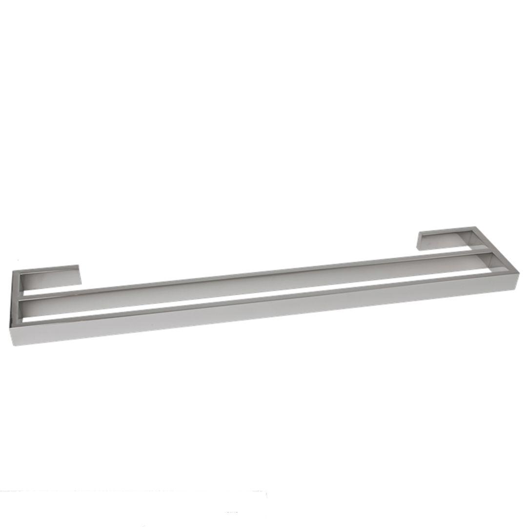 Bathroom 900mm montangna double towel rail stainless steel for Double towel rails for bathrooms