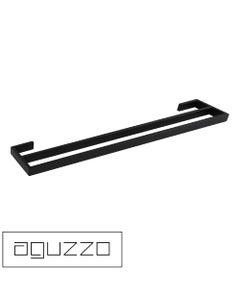 montangna-double-towel-rail-matte-black-750mm-branded-new