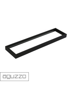 Montangna Glass Shelf with Stainless Steel Frame - Matte Black